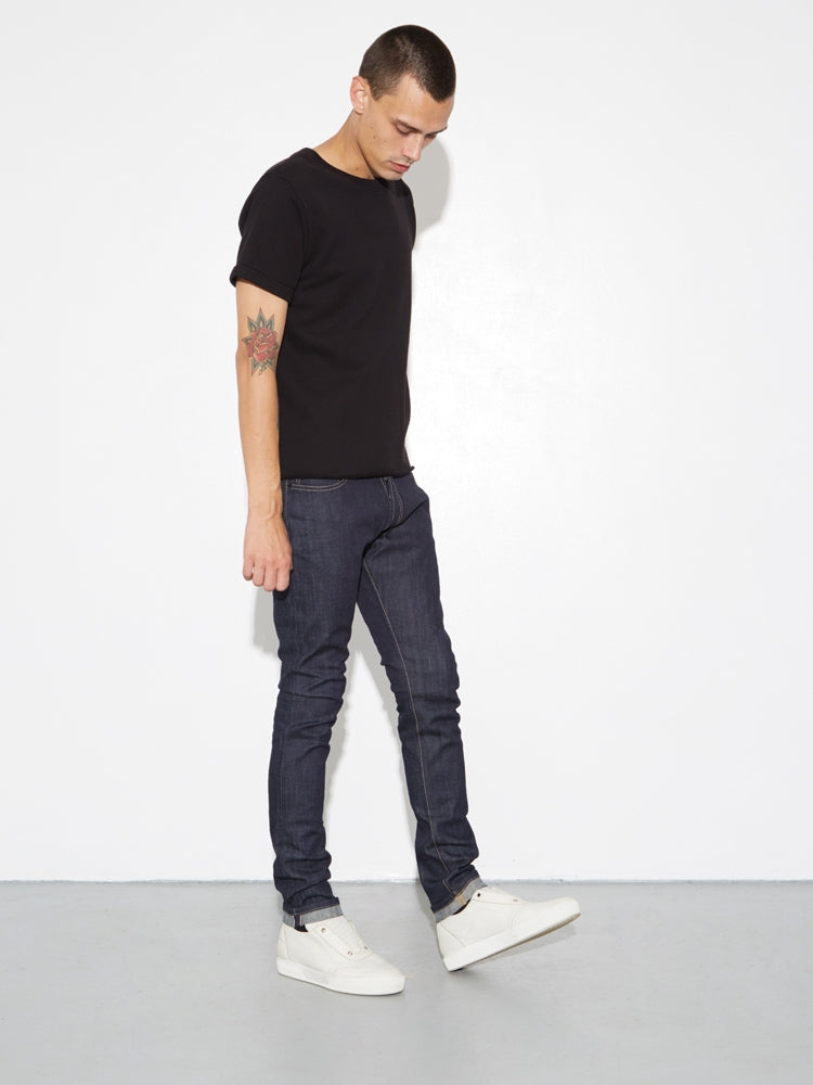 Classic Skinny Jean in Selvedge Indigo by OAK