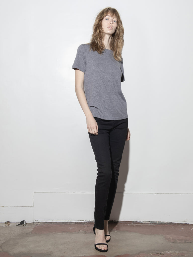A/OK Relaxed Tee in Heather Grey in Heather Grey by A/OK
