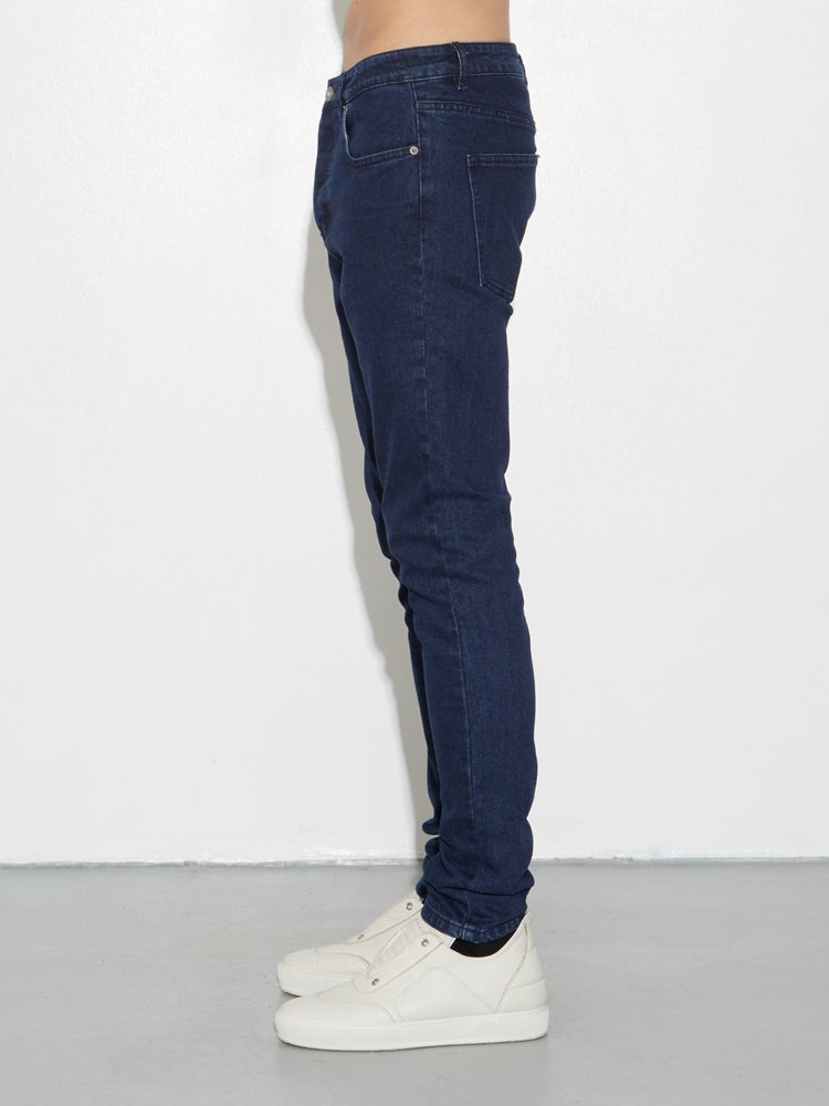Load image into Gallery viewer, Oak Mid Skinny Worn Indigo