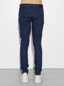 Oak Mid Skinny Worn Indigo in Worn Indigo by Oak