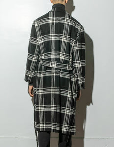 Belted Overcoat in Plaid by Oak