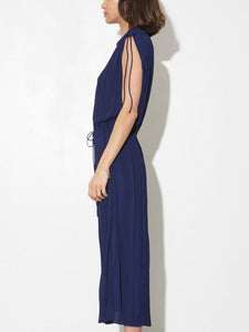 Pleated Long Dress in Midnight by A/OK OOS