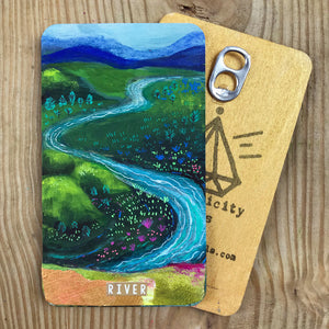 River - Hand Painted Wooden Oracle Card