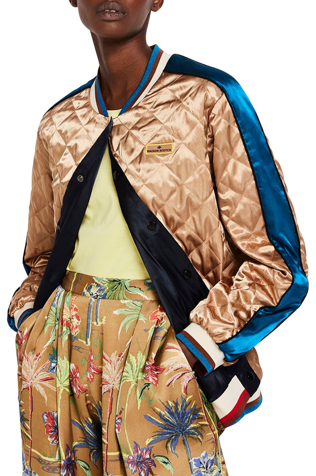 Shiny Reversible Bomber Jacket