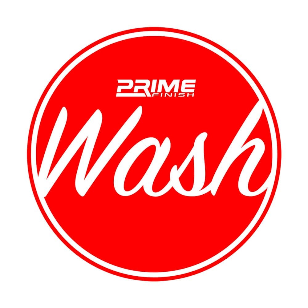 Wash Bucket Water Proof Vinyl Sticker - Red - Prime Finish Car Care