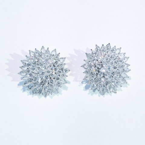 64Facets rose-cut diamond earrings