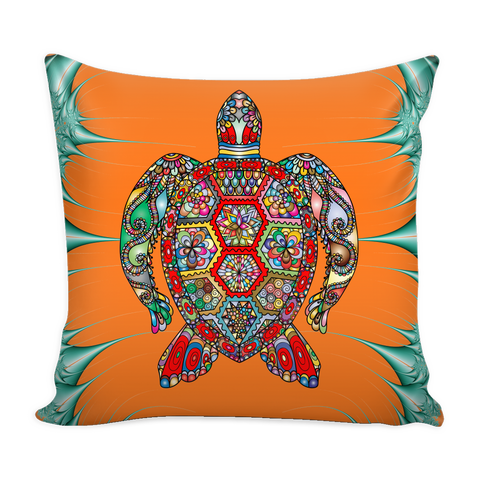 Psychedelic Sea Turtle Pillow