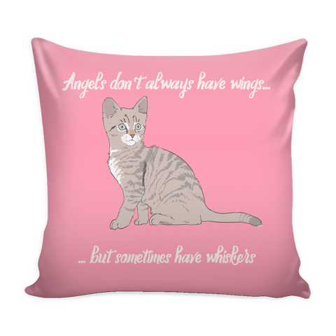 Angels Have Whiskers Pillow