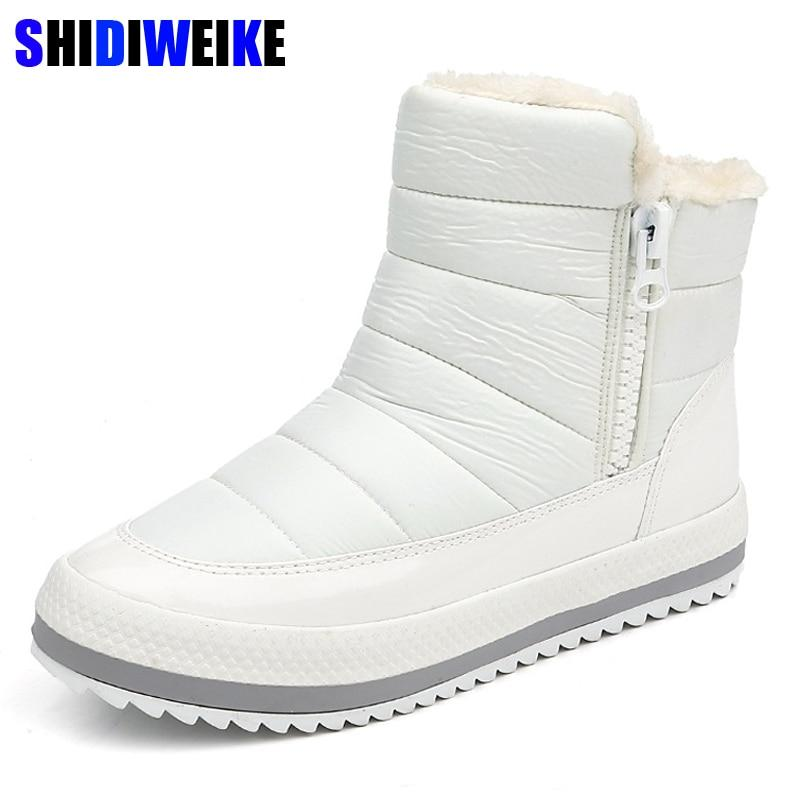 SHIDIWEIKE Russian Winter Boots for Women Side zipper Women's Winter Shoes Femalemodkily-modkily