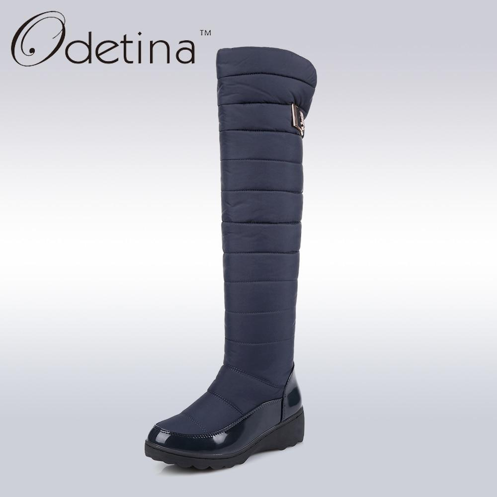 Women Long Warm Snow Boots Black Over The Knee Boots Womensmodkily-modkily