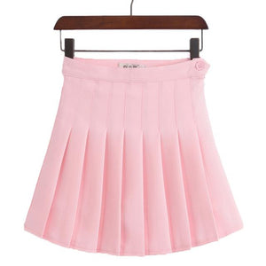 College School Style A-line Skirt High Waist Pleated Skirts For Women Girlsmodkily-modkily