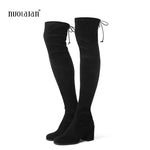 Women Over The Knee Boots Suede Thigh High Boots 2018 Autumn Wintermodkily-modkily