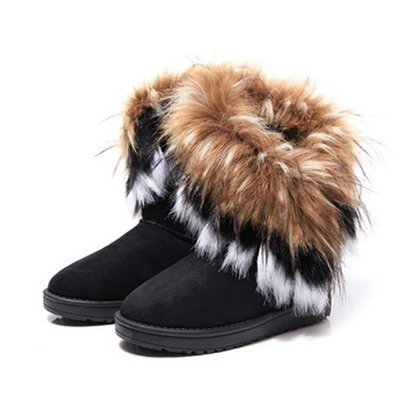 Fashion Women Boots Snow Winter Warm Velvet Women High Boots Fluffy Newmodkily-modkily