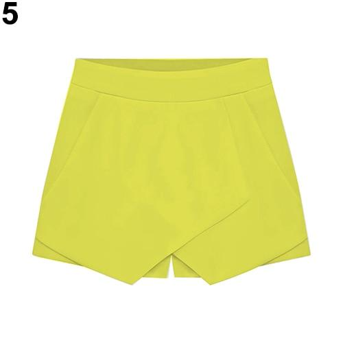 Women's Summer Sexy Casual Asymmetrical Front Candy Color Tulip Skort Shortsmodkily-modkily