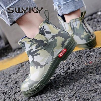 Rainboots Shoes Woman 34 44 Comflage 2018 Ankle Rain Boots Femalemodkily-modkily