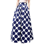 Summer Womens Skirts High Waist Vintage Skirt Elegant polka-dot Office Workmodkily-modkily