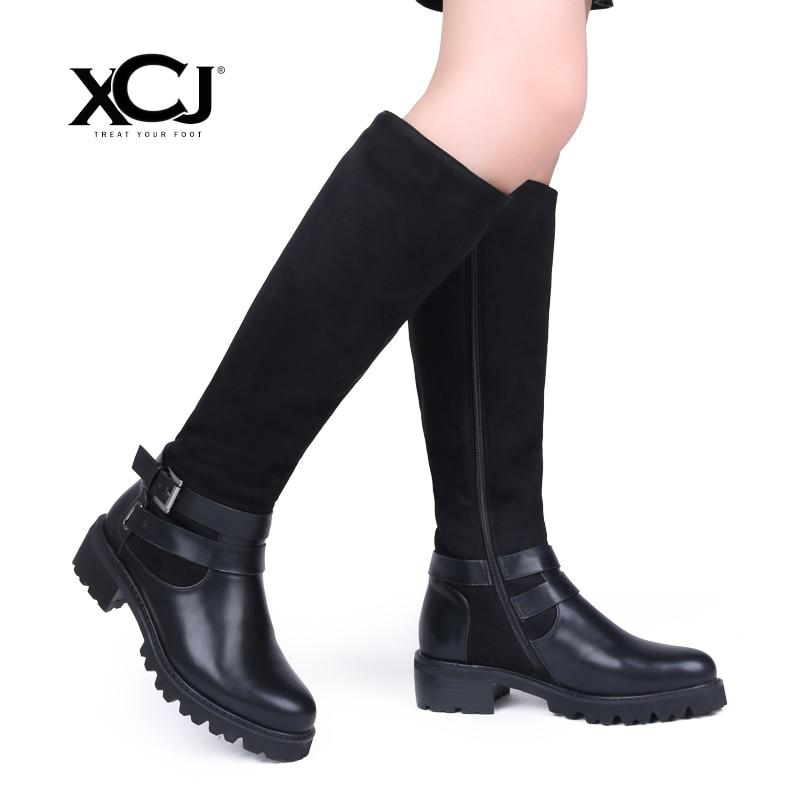 Women's Winter Shoes Brand Leather Knee High Boots High Quality Women Shoesmodkily-modkily
