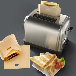 5 PCS Non Stick Heat-Resistant Toaster Bags (Reusable)
