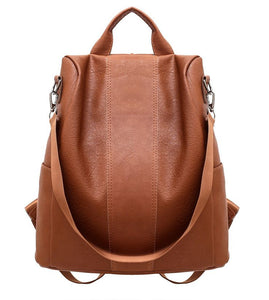 Premium Women Anti-Theft Leather Backpack