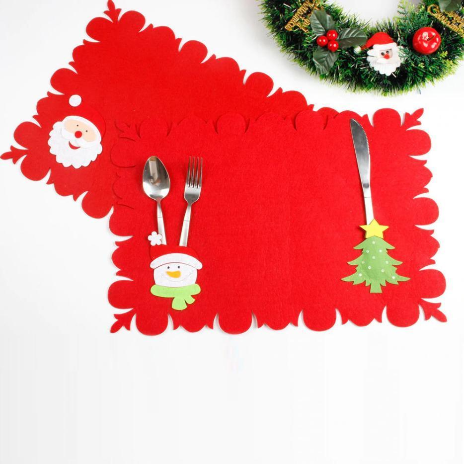 Christmas Silverware Holder + Table Mat (BUY 1 FREE 1)