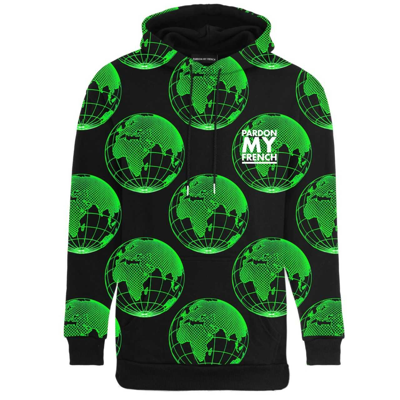 PARDON MY FRENCH WORLD PLANETS HOODIE
