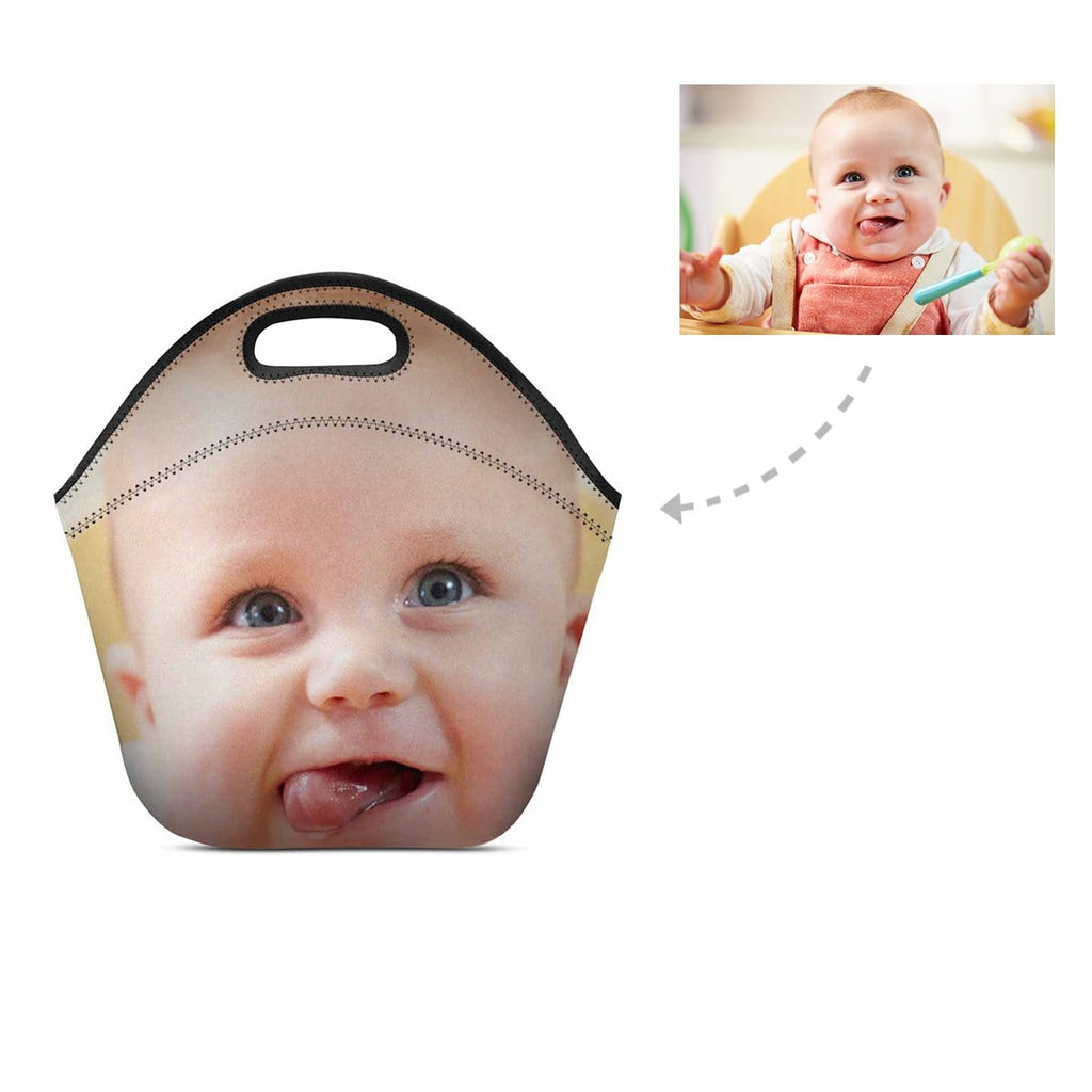 Custom Baby Face Neoprene Lunch Bag