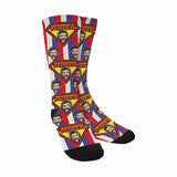 Custom Face Super Dad Sublimated Crew Socks