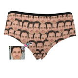 Custom Boyfriend Face Seamless Women's High Waist Briefs