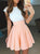 Simple Round Neck Open Back Mini Homecoming Dresses Evening Dresses - NICEOO