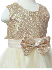 A Line Round Neck Sleeveless Tulle Flower Girl Dresses With Bow - NICEOO