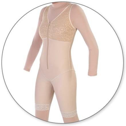 Style 27 - Mid Thigh Body Shaper Slit Crotch by Contour