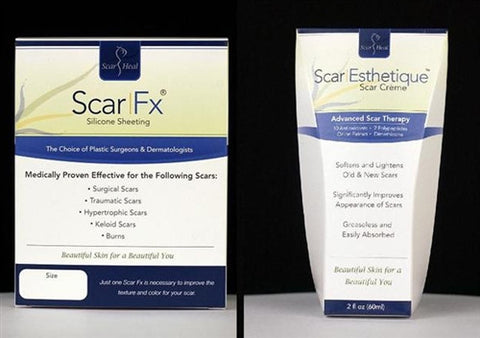 "Scar Fx Silicone Sheet 1.5"" x 9"" and Scar Esthetique Cream Kit"
