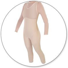 Style 29Z - Ankle Length Body Shaper with Side Zippers