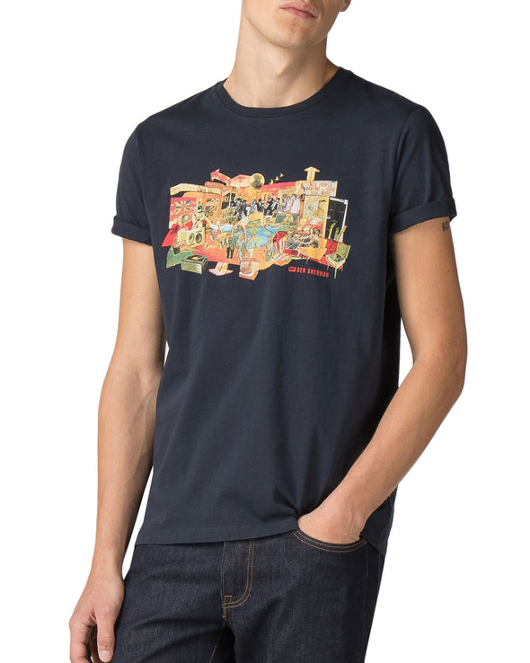 70s House Graphic Tee - Midnight Navy