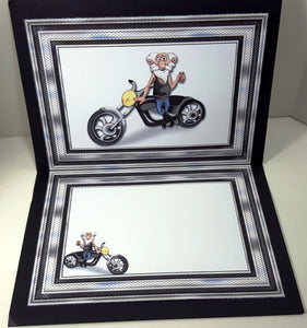 Biker's Don't Go Grey! Humorous Multi-Occasion Card