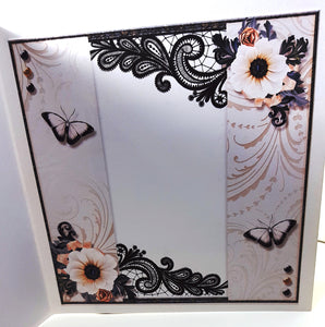 Butterflies & Flowers in Black and White Multi-Occasion Card