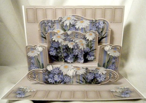 Daisies & Forget-Me-Nots 3D Pop Up Shelf Card - Multi Occassion
