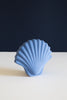 Ceramic Seashell Vase in cobalt blue