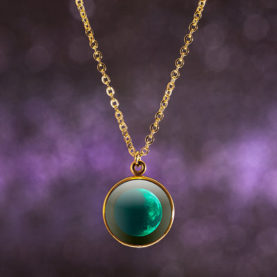 Waning Crescent I Gilded Luna Necklace