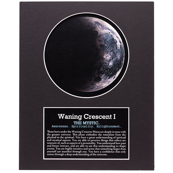 Waning Crescent I Moon Art