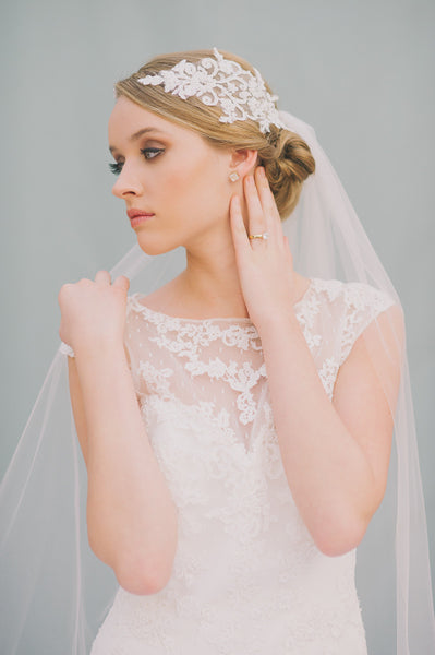 Bandeau + English Tulle Veil - Style #1420