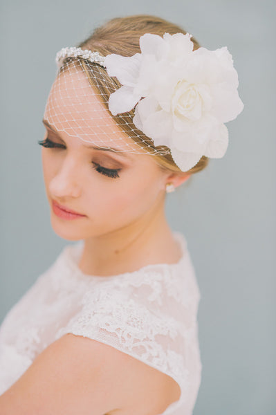 Beaded Bridal Headband - Style #1425