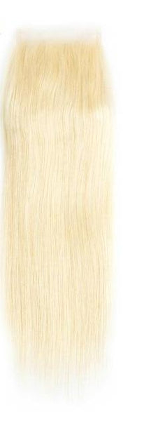 "Brazilian Straight Lace 4""x4"" Closure- 613 Blonde - Exotic Hair Shop"