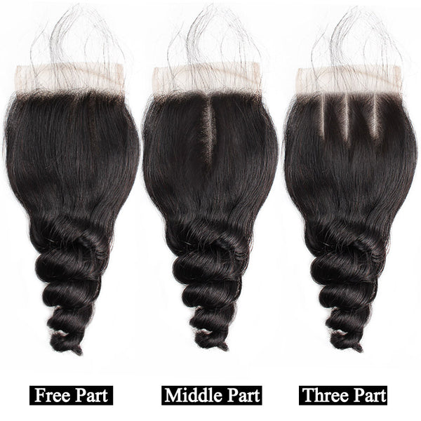 "Brazilian Loose Wave Lace Closure 4""x4"" - Exotic Hair Shop"