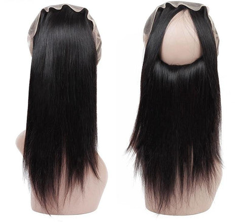 Indian Straight Hair 360 Lace Frontal Closure - Exotic Hair Shop