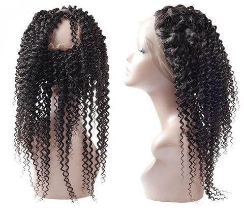 Indian Exotic Curly 360 Lace Frontal Closure - Exotic Hair Shop