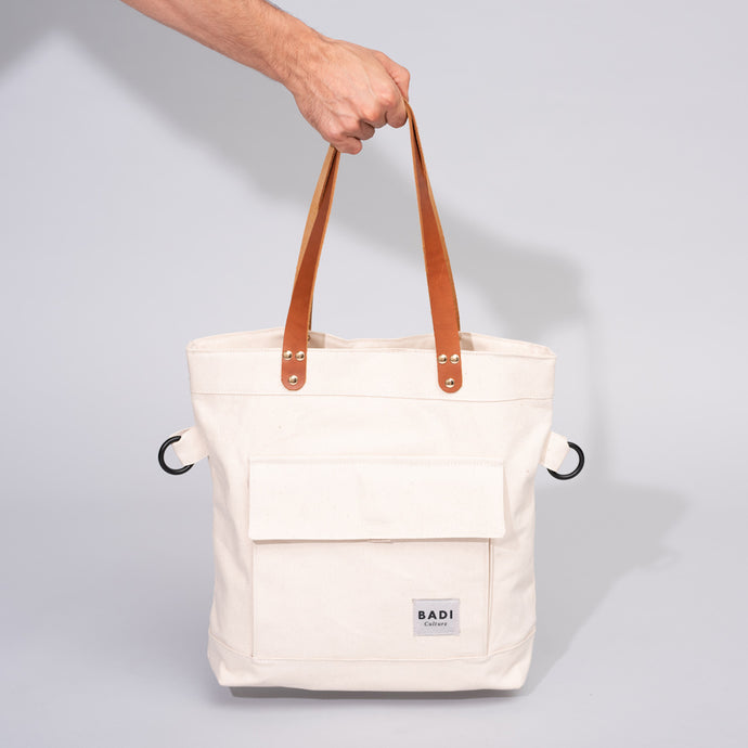 Fold-Over Tote natural-natural