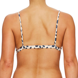Miss Bondi / Purr leopard black luxury bikini top