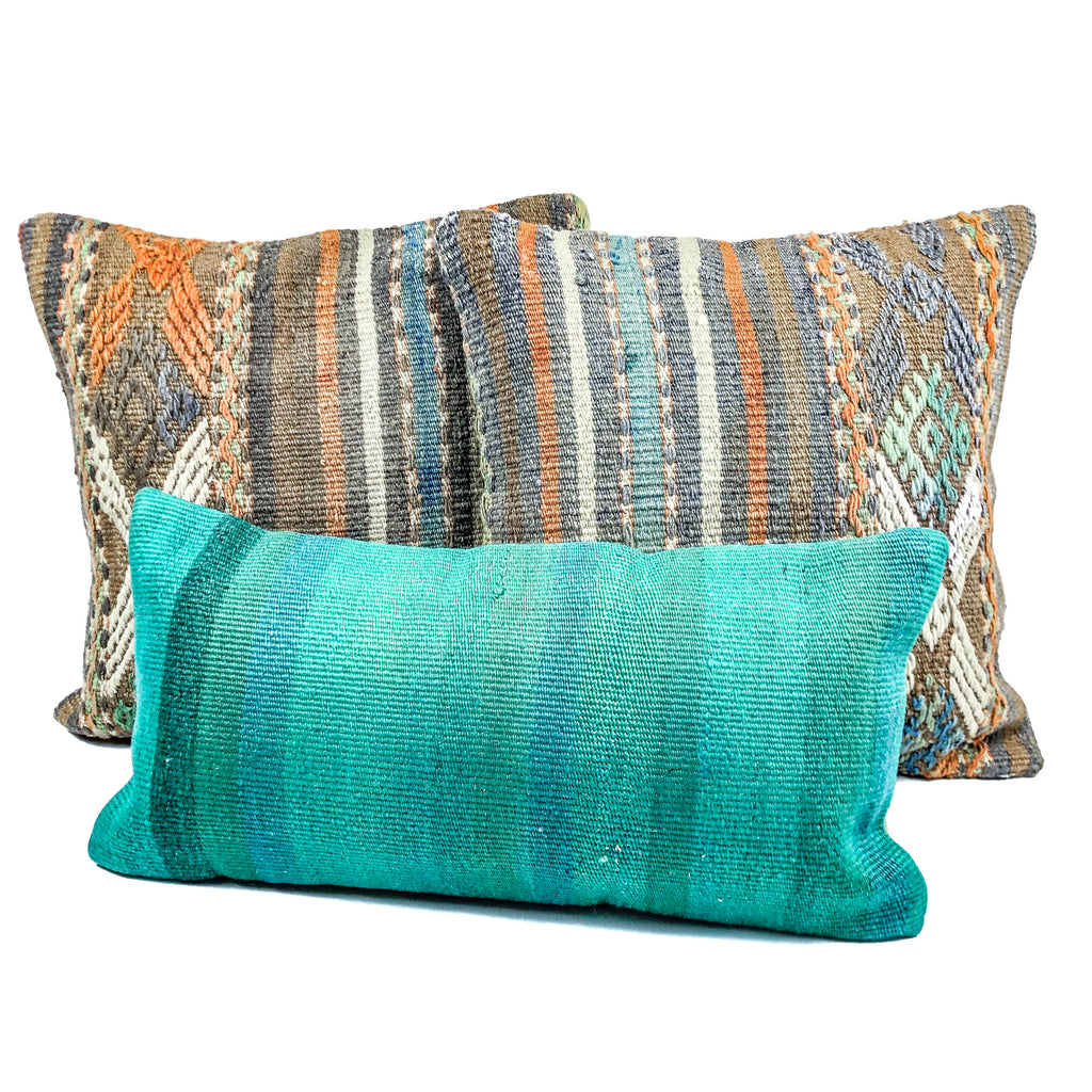 Beachside Orange Kilim Pillow (20x20)