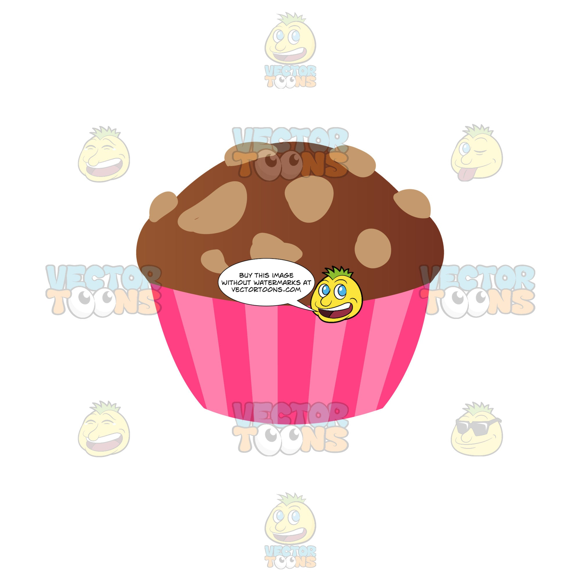 Chocolate Cupcake With Nuts On Top